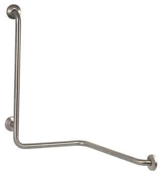 Grab bar with 3 anchoring points on 2 walls
