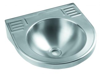 Wall mounted wash basin in stainless steel (AISI 304) - Compact