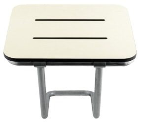 Foldable seat for wall mounting with extra support for stability