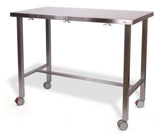 Demountable examination table with wheels