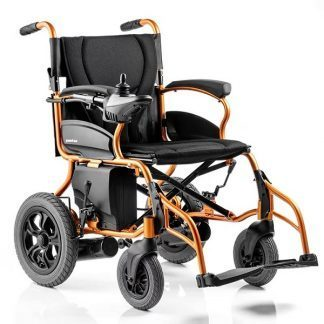 Electric wheelchair with aluminum folding frame