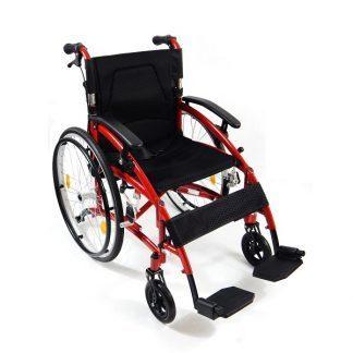 Premium foldable wheelchair with om aluminum frame