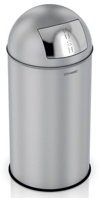 Push Wastepaper Bin 40L Stainless Steel Brushed