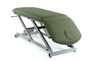 Electric treatment table - 2 sections - Negative adjustment of backrest