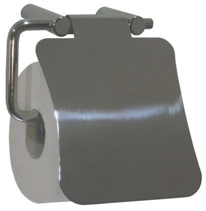 Toilet paper holder with a lid - Stainless steel (AISI 304)