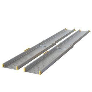 Telescope ramp - Length: 125 cm - 210 cm - 16 cm wide per ramp - Max: 275 kg