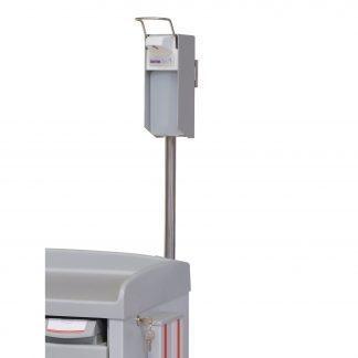 Soap dispenser customised for hospital trolley mount