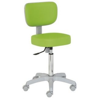 Chair with backrest - PVC base - Height: 55-74 cm