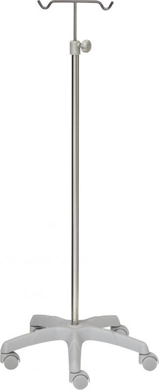 IV-pole - 2 hooks - PVC base