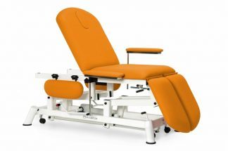 Hydraulic examination chair - 3 sections with adjustable arm-/legrests