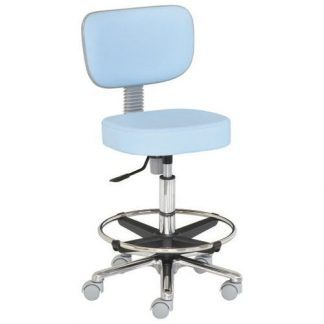 Chair with foot and backrest - Aluminium base