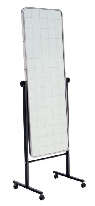 Mirror with wheels for body posture - Grid