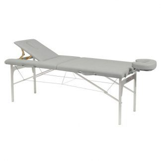 Foldable massage table (Alu)- 2 sections - 182x70 cm - Adjustable height/backrest
