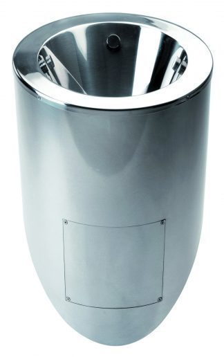 Urinal in stainless steel - 36,5 x 32,5 x 66 cm