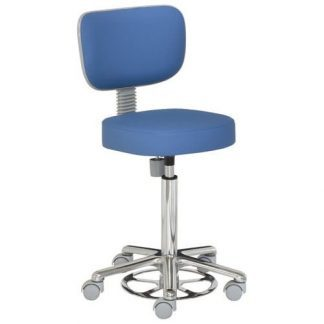 Chair with backrest - Foot maneuvered - Aluminium base