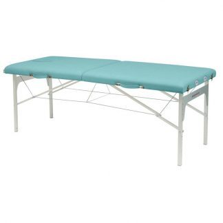 Foldable massage table - Aluminium frame - 2 sections - 182x70 cm