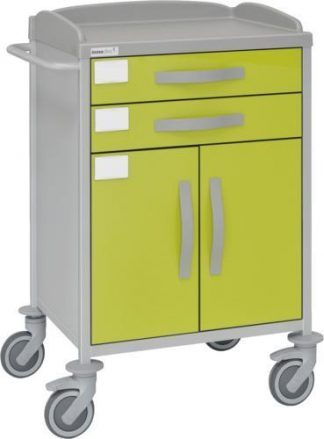 Multifunctional hospital trolley with 1 shelves - 2 drawers - 1 large cabinet