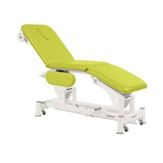 Hydraulic examination chair - 3 sections with armrests and wheels