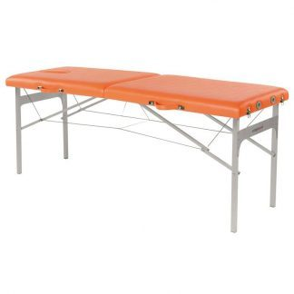 Foldable massage table - Aluminium frame - 2 sections - 182x62 cm - Fixed height