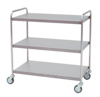 Distribition trolley made out of stainless steel - 3 shelves - 95x55x95 cm