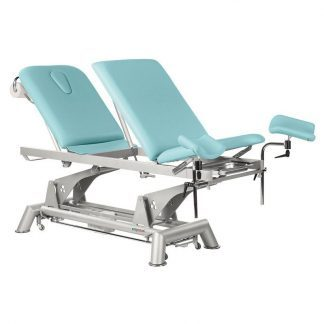 Electric treatment table - 3 sections with wheels - Multifunctional - TwinPillar