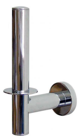 Toilet paper holder (for spare roll) in chromed brass
