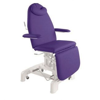 Hydraulic examination chair - 3 sections with armrests and wheels - 1 pillar lift