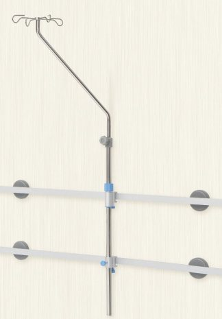 IV-pole - for mounting with 2 wall rail