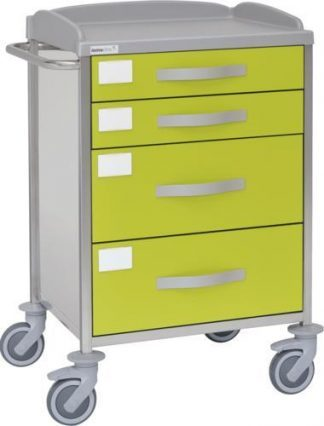 Multifunctional hospital trolley with 1 shelves - 4 drawers