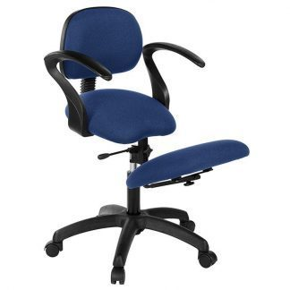 Knee chair with back and armrests - Black base