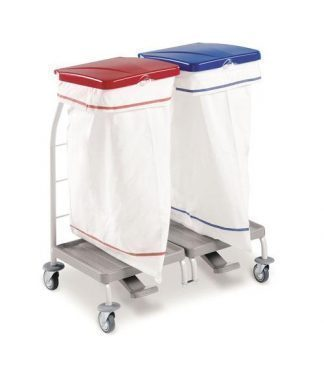 Clothing trolley - 2 x 70 Litres polyester bag