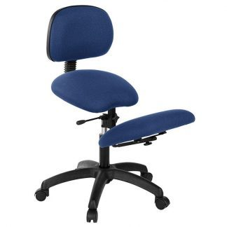 Knee chair with backrest - Black base