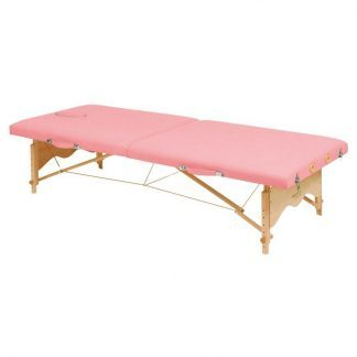 Foldable wooden massage table - 2 sections - 182x70 cm (low) - Adjustable height