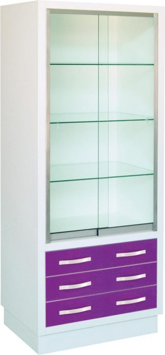 Instrument cabinet with 4 shelves and 3 drawers
