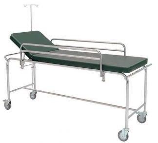 Trolley with detachable side rails and IV-pole - 205x68 cm