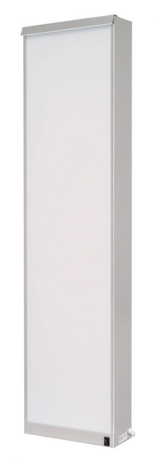 Cabinet - Vertical - 32x10x125 cm - 3 fluorescent lighting - Stainless steel