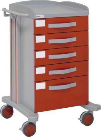 Multifunctional hospital trolley with 1 shelves - 5 drawers - Epoxy coating