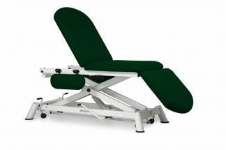 Hydraulic examination chair - 3 sections with armrests and wheels - Scissor lift