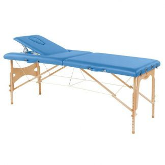 Foldable wooden massage table - 2 sections - 182x70cm - Adjustable height/backrest