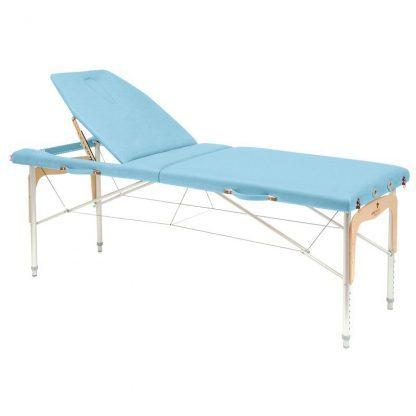 Foldable massage table (Alu) - 2 sections - 182x70 cm - Large backrest