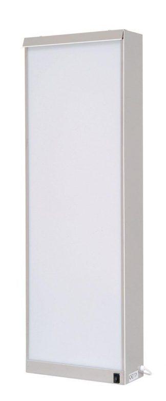Cabinet - Vertical - 32x10x95 cm - 2 fluorescent lighting - Stainless steel