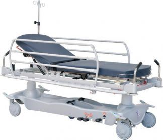 Hydraulic patient- and trauma trolley - 2 sections - Multiple functions
