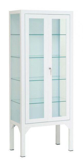 Instrument cabinet - 60x35x150 cm - 4 individual legrests - 2 doors