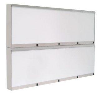 Cabinet - 146x10x96 cm - 8 fluorescent lighting - Stainless steel