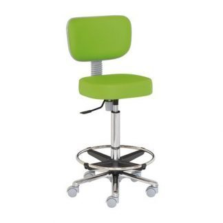 Chair with backrest - Foot support - Aluminium base