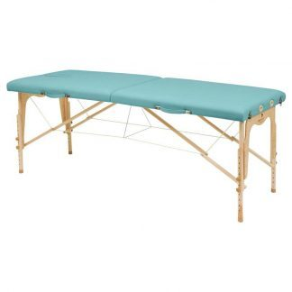 Foldable wooden massage table - 2 sections - 182x70 cm - Adjustable height