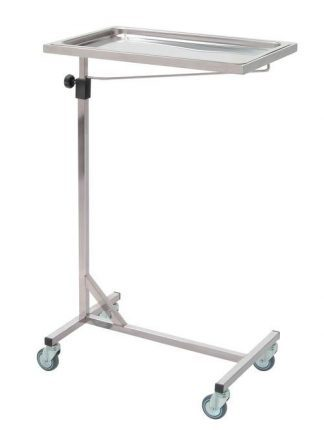 Side trolley with wheels - Mayo - Stainless steel - Length 60 cm