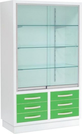 Instrument cabinet with 4 shelves and 6 drawers