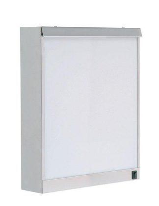 Cabinet - 38x10x48 cm - 1 fluorescent lighting - Stainless steel