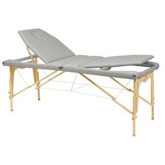 Foldable wooden massage table - 2 sections - 182x70cm - Adjustable